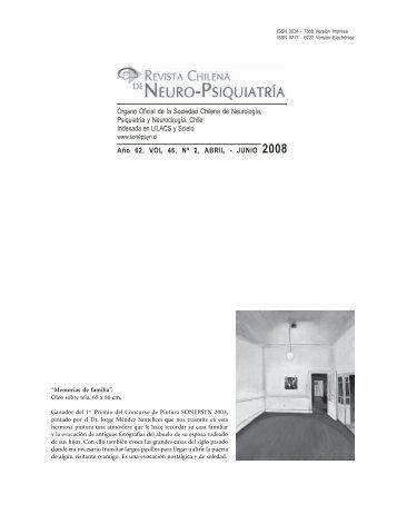Año 62, VOL 46, Nº 2, ABRIL - JUNIO 2008 - Sonepsyn