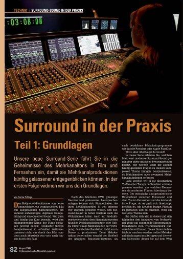 Surround in der Praxis - Sonic Media
