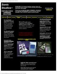 external portable recorder battery systems - Sonic Studios