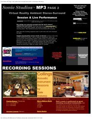 Sonic Studios MP3 Page 2 with Ambient Stereo-Surround Session ...