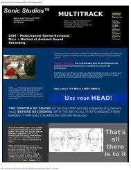 DSM Microphone Stereo-Surround MultiTrack ... - Sonic Studios