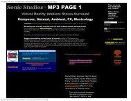 Sonic Studios MP3 Page 1 with Ambient Stereo-Surround ...