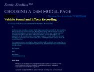 CHOOSING A DSM Stereo Microphone Model FAQ ... - Sonic Studios
