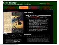 DSM HRTF Headworn/Baffled Ambient Stereo ... - Sonic Studios
