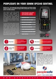 peoplesafe on your sonim xp3340 sentinel - Sonim Technologies