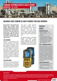 SonIm technoLoGIeS caSe StUdy IndUStRy: oIL & GaS