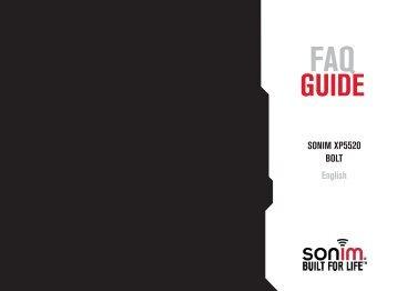 SONIM XP5520 BOLT English - Sonim Technologies