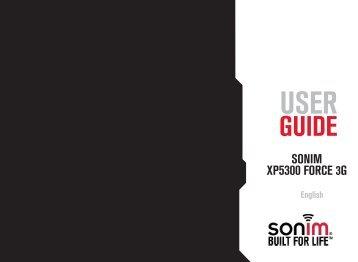 SONIM XP5300 FORCE 3G - Sonim Technologies