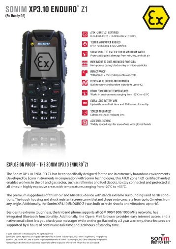 XP3.10 Enduro z1 - Sonim Technologies