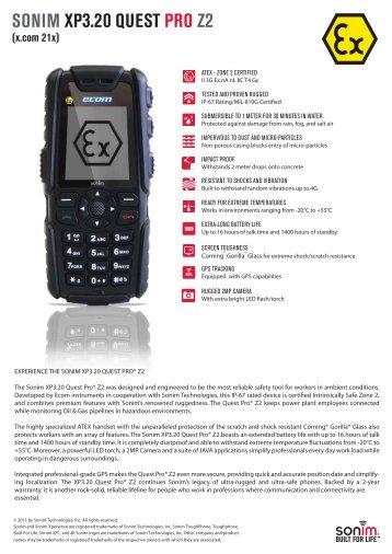 XP3.20 quest pro z2 - Sonim Technologies