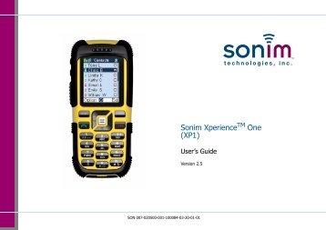 Sonim Xperience One (XP1) - Sonim Technologies