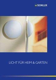 LICHT FÜR HEIM & GARTEN - sonlux