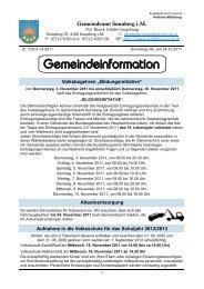 Gemeindeinformation 12/2011 - Sonnberg