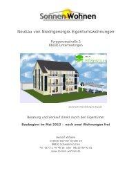 Neubau von Niedrigenergie-Eigentumswohnungen - Sonnen ...