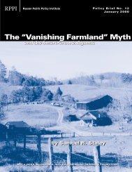 "The ""Vanishing Farmland"" Myth - Reason Foundation"