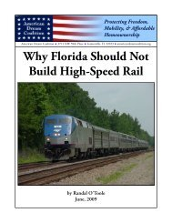 Why Florida Should Not Build High-Speed Rail - American Dream ...