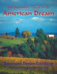 The Journalists' Guide to the - American Dream Coalition