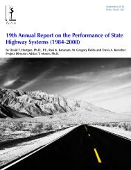 19th Annual Report on the Performance of State Highway Systems