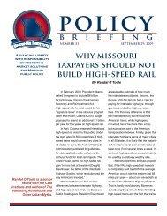 Why Missouri Should Not Build High-Speed Rail - American Dream ...