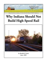 Why Indiana Should Not Build High-Speed Rail - American Dream ...