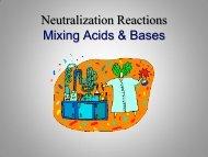 PowerPoint - Neutralizing Acids & Bases - Balanced Equations
