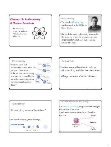 Notes-Radioactivity