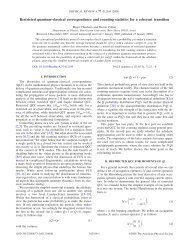 Restricted quantum-classical correspondence and counting ...