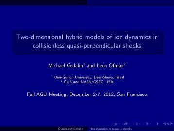 Two-dimensional hybrid models of ion dynamics in collisionless ...