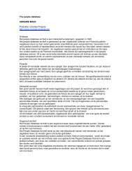 The people database ANNEMIE MAES Produktie: Unamas Projects ...