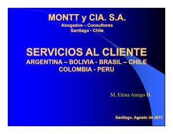 Montt y Cía. - Chile como exportador de servicios