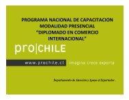 Programa Nacional de Capacitación. - Chile como exportador de ...