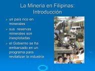 La Mineria en Filipinas - Chile como exportador de servicios