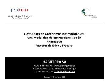 Presentación Empresa Habiterra. - Chile como exportador de servicios