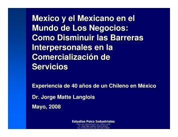 Como disminuir las barreras interpersonales en - Chile como ...