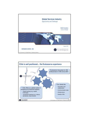 Global Services Industry Chile is well positioned… the Evalueserve ...