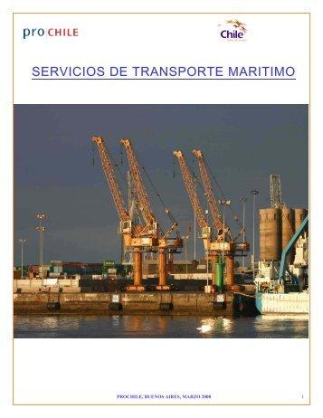 SERVICIOS DE TRANSPORTE MARITIMO - Chile como exportador ...