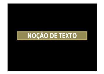 NOÇÃO DE TEXTO - ECA