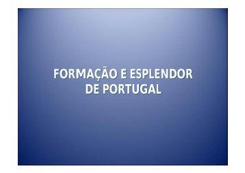 FORMAÇÃO E ESPLENDOR DE PORTUGAL - ECA