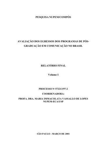 graduação em comunicação no brasil relatório final v - ECA - USP