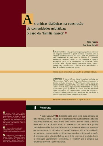 s práticas dialógicas na construção de comunidades ... - ECA