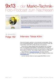 9x13 – der Markt+Technik- Foto-Podcast zum ... - Content Crew