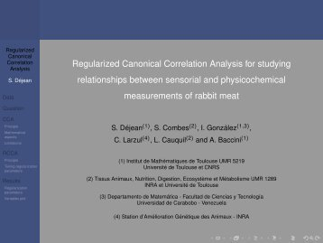 Regularized Canonical Correlation Analysis for studying ...