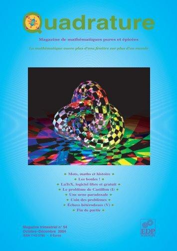 Les boules - Institut de Mathématiques de Toulouse