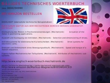 Woerterbuch: deutsch-englisch Begriffe Endschalter (Sensorik) Inbetriebnahme Fehlersuche