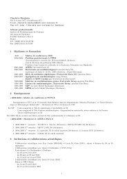 1 Diplômes et Formation 2 Enseignement 3 Invitations et ...