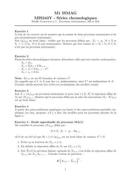 M1 Ismag Mis243y Series Chronologiques