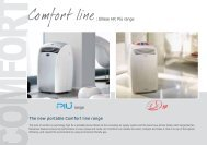 : Ellisse HP, Più range The new portable Comfort ... - Olimpia Splendid