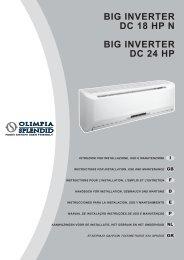 MANUALE INVERTER BIG 18_24 HP_ ... - Olimpia Splendid