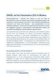 ENGEL auf der Interplastica 2012 in Moskau - Engel Austria