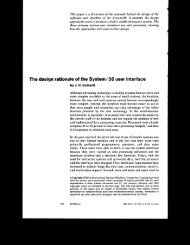 This paper is a discussion of the rationale behind the design of the ...